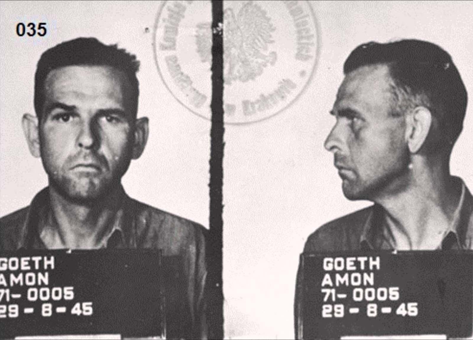 Amon Leopold Göth's mugshot, 1945.