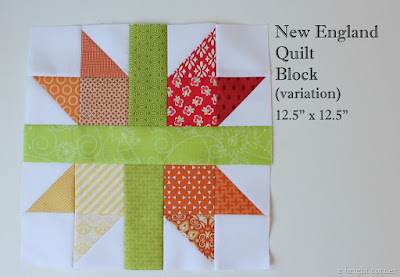 New England Quilt Block tutorial from A Bright Corner