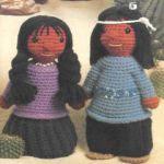 patron gratis muñeca india amigurumi | free pattern amigurumi Indian doll