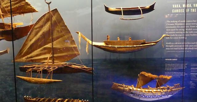 Hawaii - Ausstellung Bishop Museum - Boote