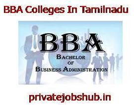 BBA Colleges In Tamilnadu