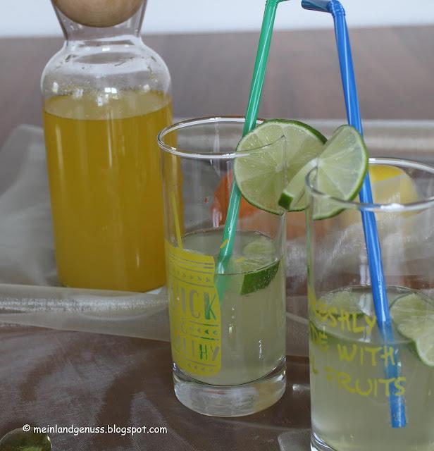 Sommerlicher Zitrus-Früchte-Sirup