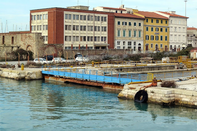 Small dry dock, port of Livorno