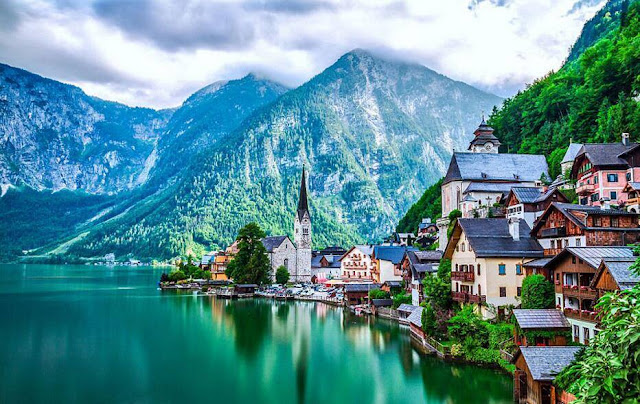 The stunning village of Hallstatt located in Austria