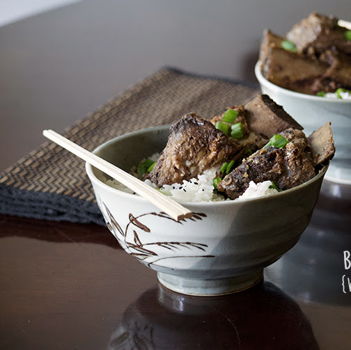Braised Beef Ribs with Spicy Black Bean Sauce