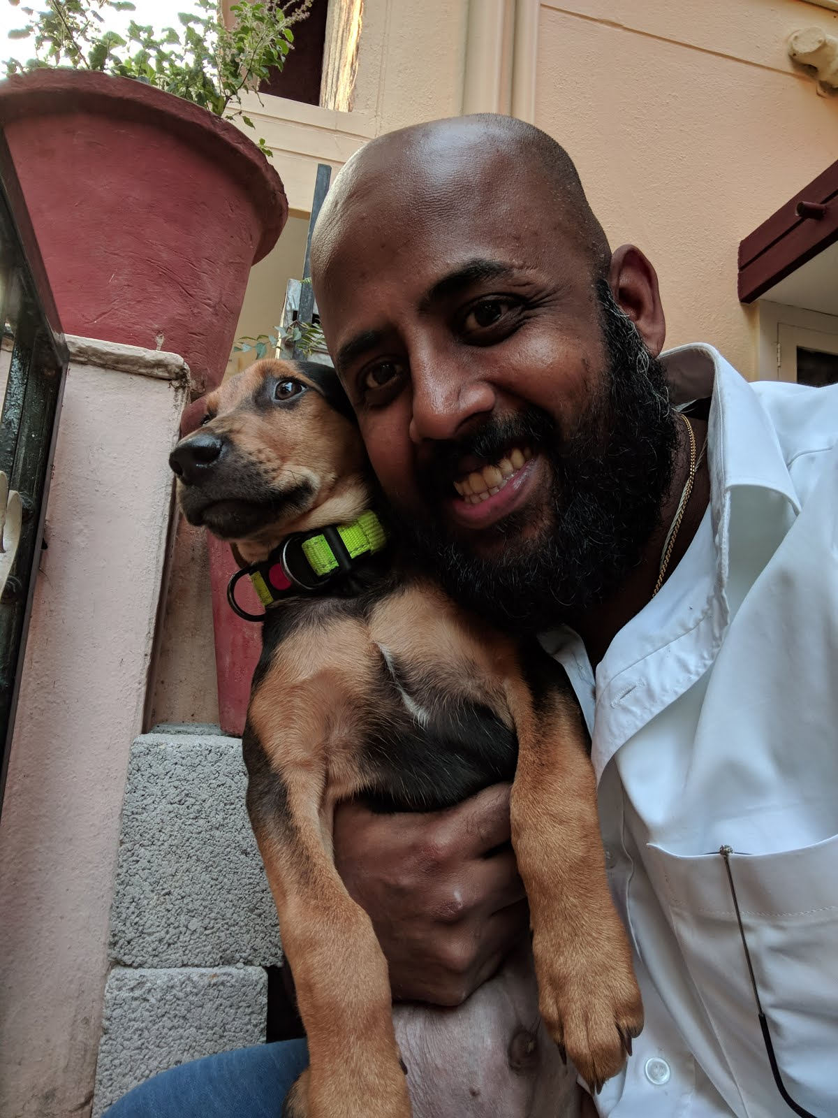 Selfie time - me and my puppy Alpha