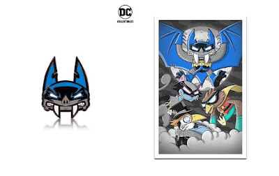 Designer Con 2018 Exclusive DC Artists Alley Batman Print & Enamel Pin by Joe Ledbetter x DC Collectibles