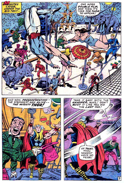 Thor v1 #173 marvel comic book page art by Jack Kirby, Bill Everett