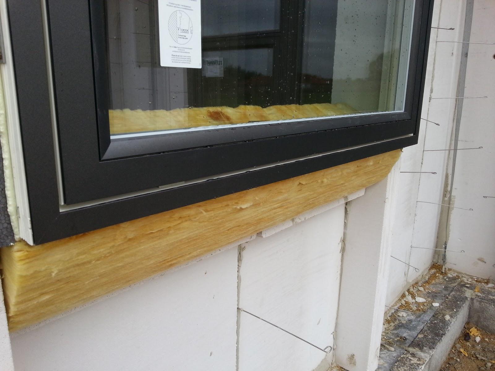 Fuge vinduer med mørtel – Lufting mellom isolasjon og undertak