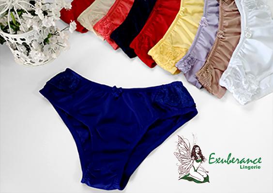 Calcinhas cintura alta, várias cores