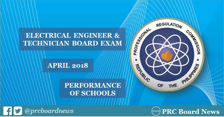 RESULTS: April 2018 Electrical Engineer REE, RME board exam performance of schools