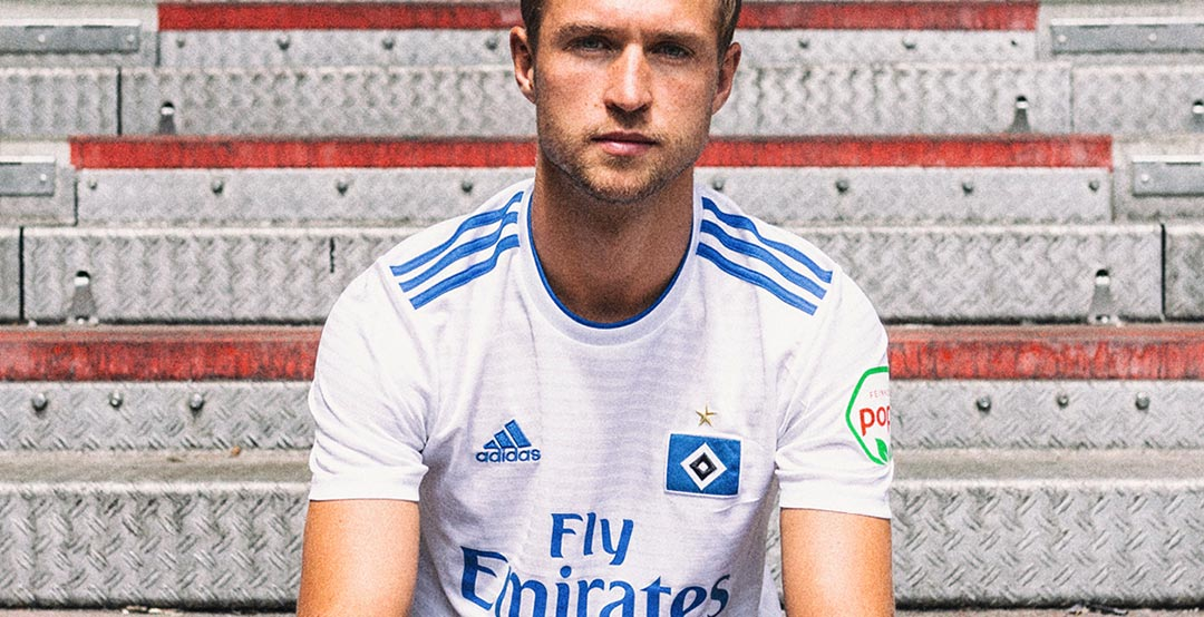 affd047b2c The Hamburger SV 18-19 home kit has been released today. It is again made  by Adidas and sponsored by Fly Emirates.