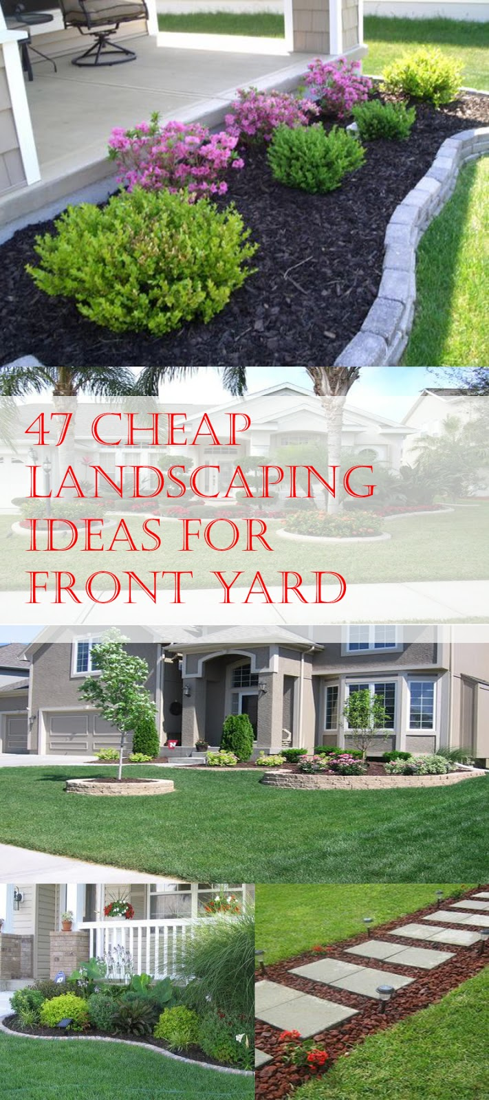 47 Cheap Landscaping Ideas For Front Yard - A Blog on Garden on Garden Design Ideas On A Budget  id=67204