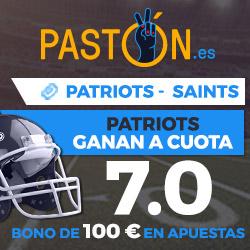Paston NFL: Megacuota New England Patriots ganan a New Orleans Saints 17 septiembre