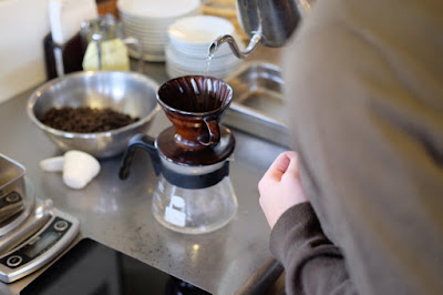 ラトリエ・デ・サンス コーヒーの淹れ方講座 私達夫婦も挑戦