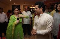 Sachin Tendulkar with his wife at Mata ka Jagrata hosted by Anu Malik 11.JPG