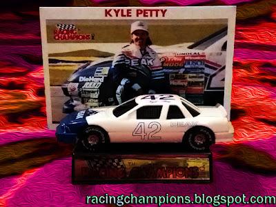Kyle Petty #42 Peak Chevrolet White Rick Hendrick 1989 Coca-Cola 600 Racing Champions 1/64 NASCAR diecast blog Charlotte