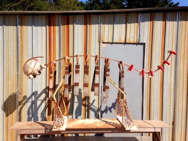 Found Object Art:  'Gilbert, The Sport-a-saurus' by Fred Leach
