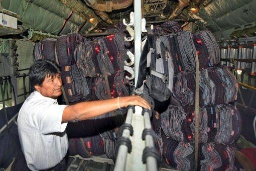 Bolivia envía a México 11 toneladas en ayuda humanitaria