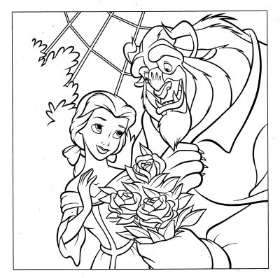 Princess Belle Beauty And The Beast Coloring Pages Learn