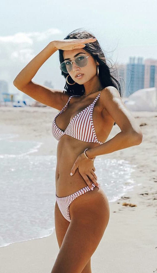 Cute Summer Beach Outfits Bikini Set #swimsuit #summer #beach