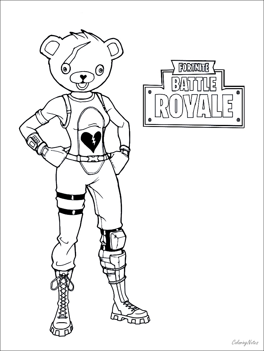 Fortnite Coloring Pages Battle Royale Drift Raven Ice
