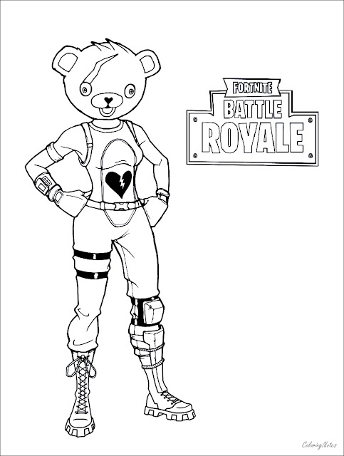Fortnite Coloring Pages Battle Royale Drift Raven Ice King