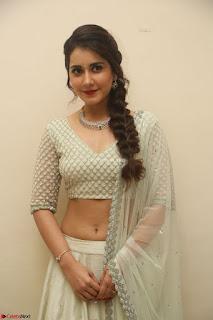 Raashi Khanan looks stunning in Crop Top Deep neck Choli Ghagra Transparent Chunni WOW ~  Exclusive Celebrities Galleries 115.JPG