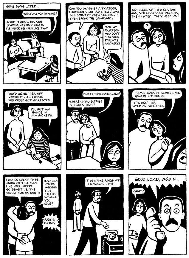 Read Chapter 16 - The Passport, page 117, from Marjane Satrapi's Persepolis 1 - The Story of a Childhood