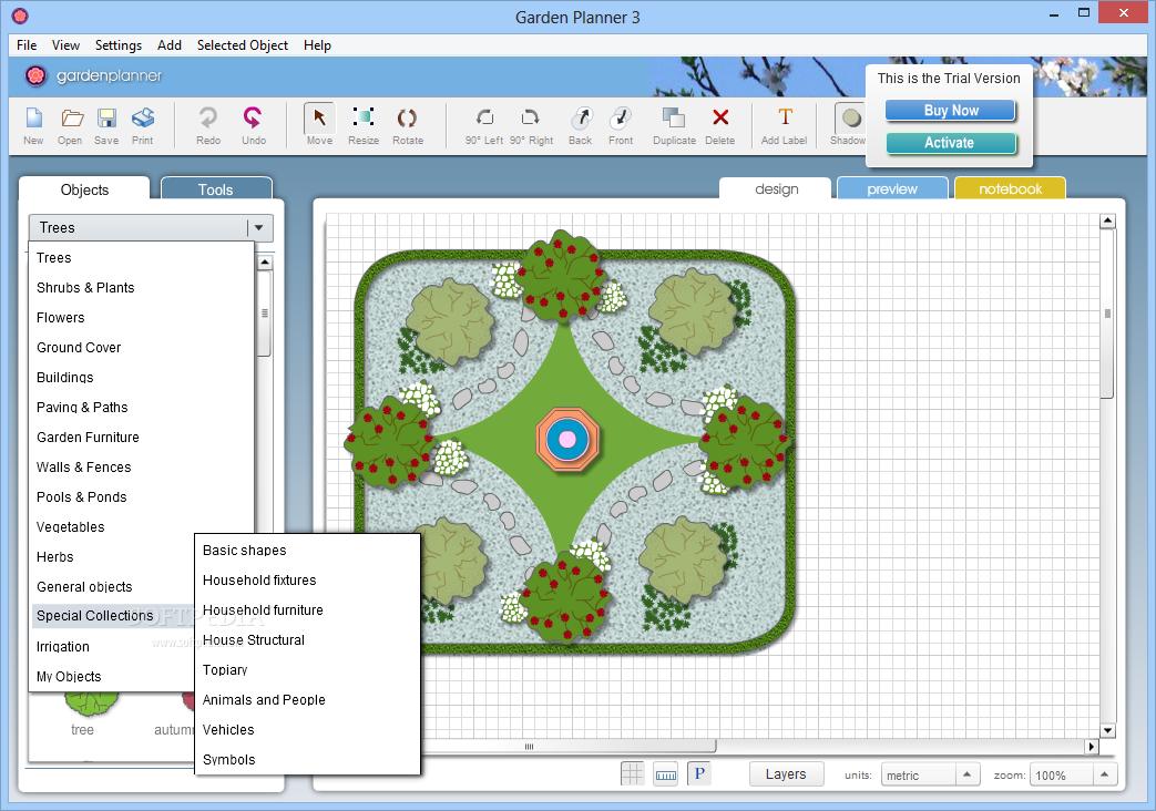 garden planner simple software for designing garden landscape free download software. Black Bedroom Furniture Sets. Home Design Ideas