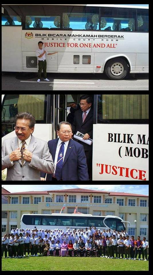 (Gambar) Bas Mahkamah Bergerak Di Sabah