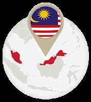 Malaysian flag and map