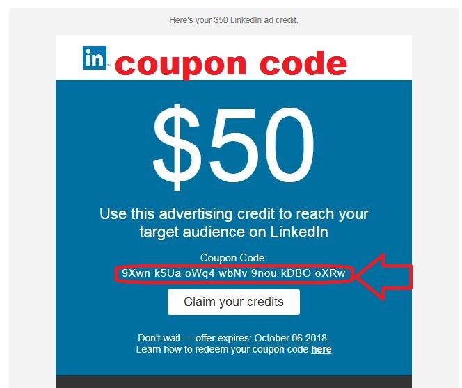 linkedin campaign coupon code