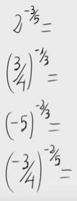 Potencias y exponente fraccionario y negativo 1