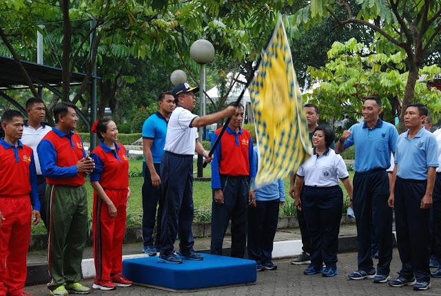 Olahraga Bersama HUT KE-46 Korpri di Mabesal