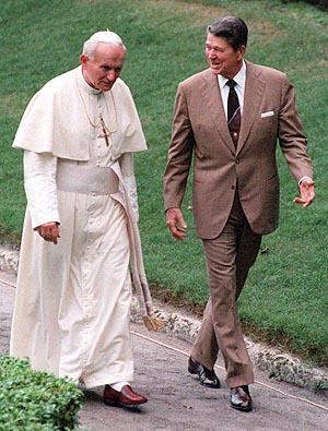 Pauca Verba: Ronald Reagan and John Paul II ~ Thoughts for Today