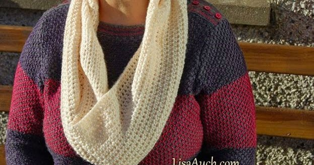 Easy Cowl Infinity Scarf Perfect Crochet Gift Idea Free