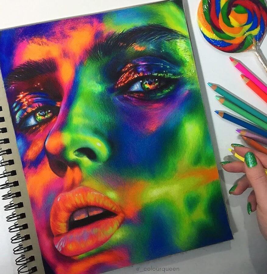 09-Portrait-5-Jenna-Very-Vivid-Colors-in-Varied-Drawings-www-designstack-co