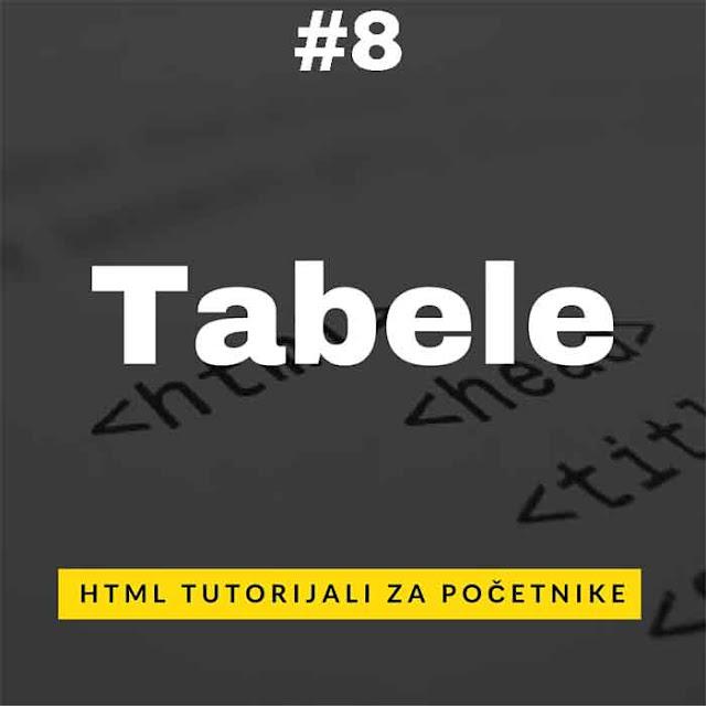 Tabele u HTML web jeziku