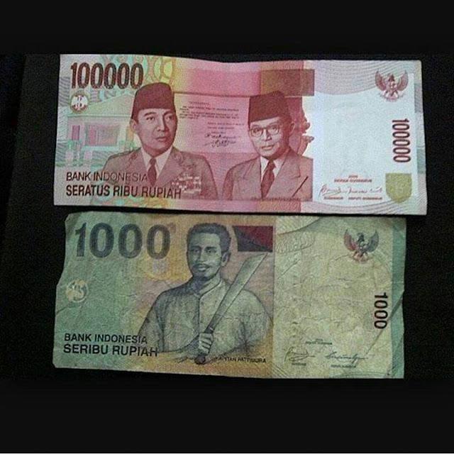 Hikmah : Kisah Percakapan Uang 1000 dan 100.000