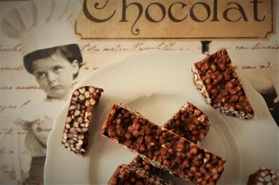 foto Ricetta barrette di cioccolato al miglio soffiato per bambini
