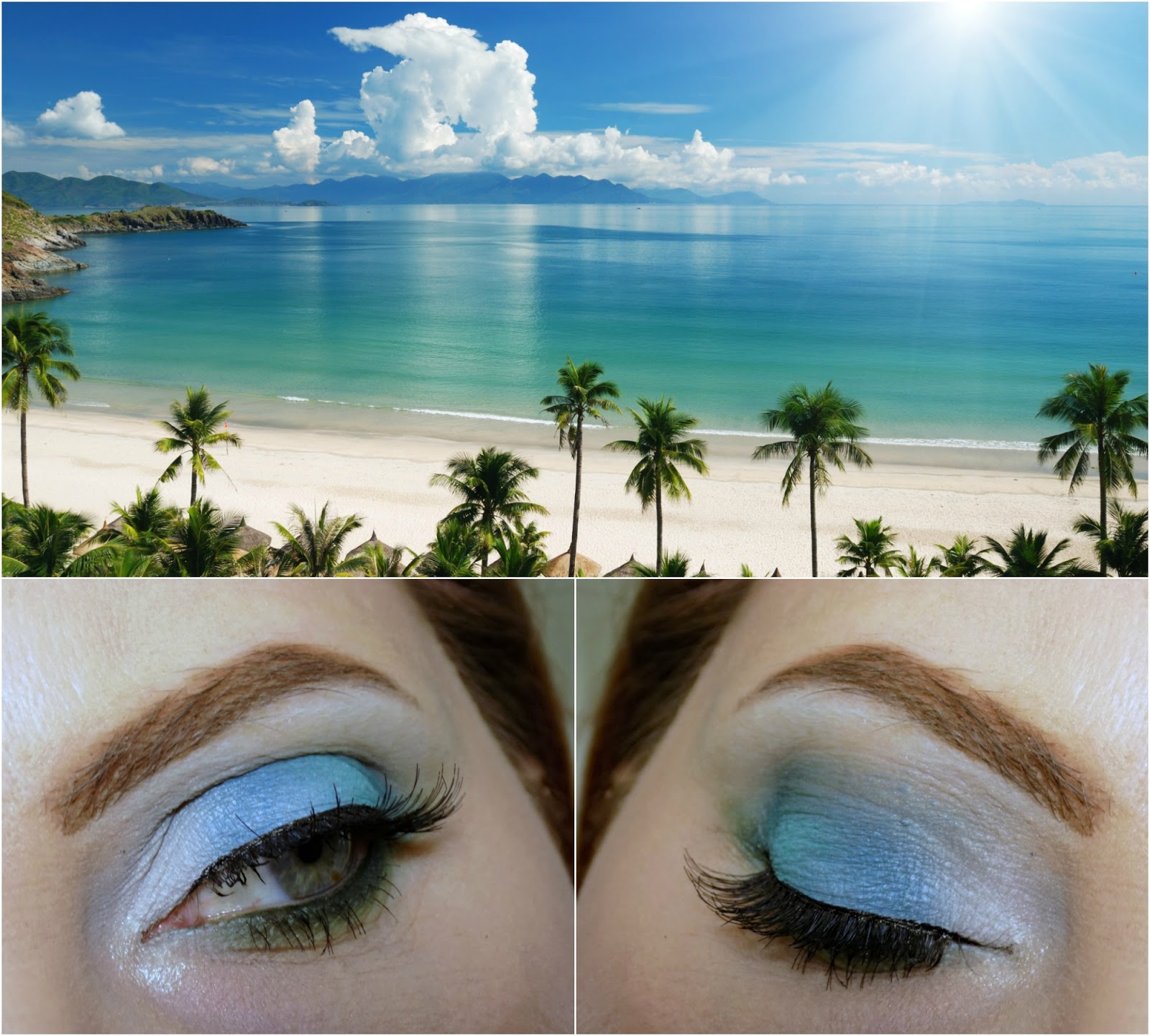 makeup look inspired by oceane beach