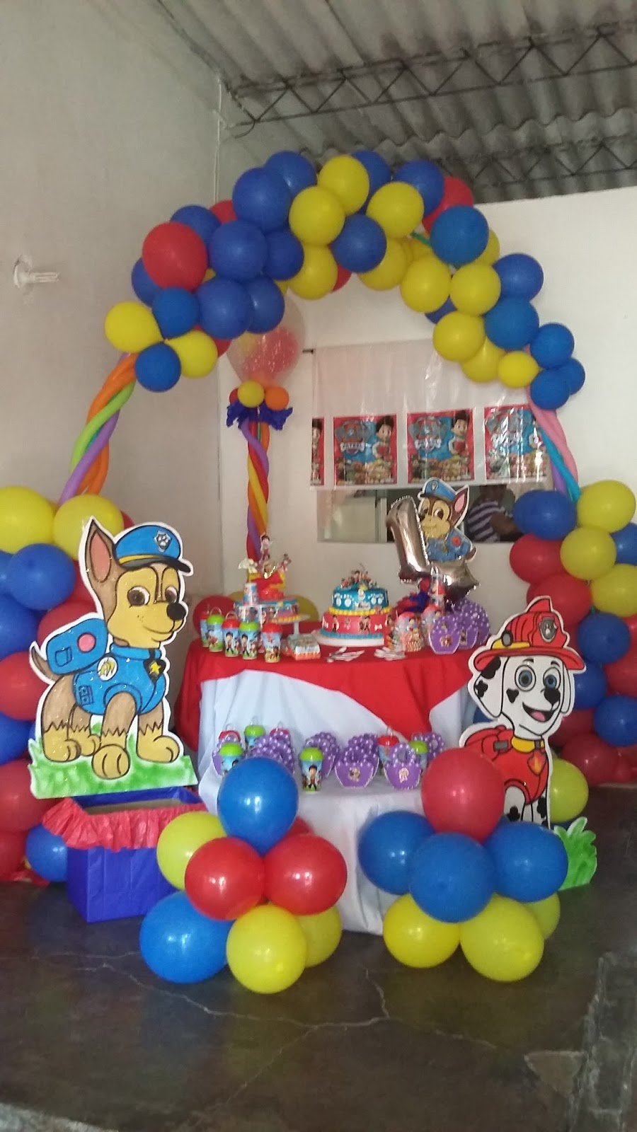 Decoraciones y b eventos decoracion infantil paw patrol - Decoracion para foto ...