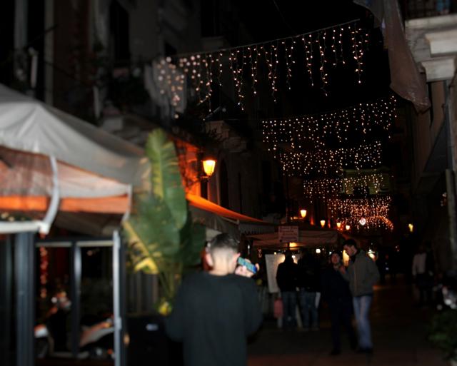 luminarie, luci, borgo antico, borgo, centro storico, stradina, Bari