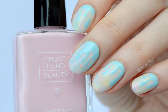 ice cream drips pastel nail art furious filer