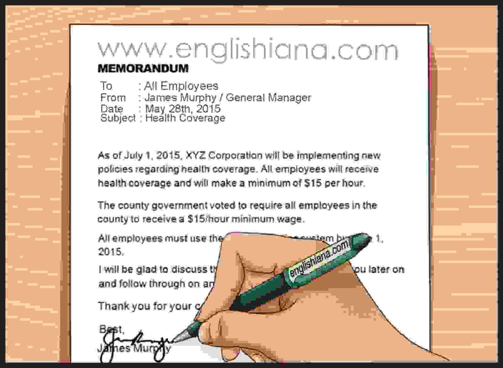 15 Contoh Memo Dalam Bahasa Inggris Beserta Artinya Belajar Bahasa Inggris Online Gratis Englishiana