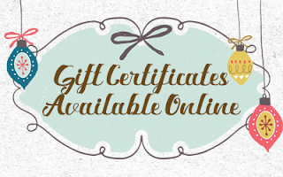 Order a print or emailable Gift Certificate