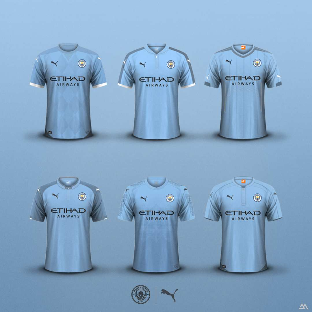 details voor nieuw product uitchecken 6 Puma Manchester City 2019-20 Concept Home Kits By João ...