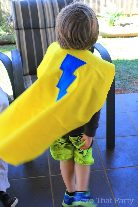superhero capes birthday party