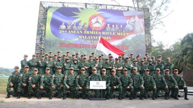 Bermodal Senjata Lokal, TNI AD Pecahkan Rekor AARM 2018 Malaysia
